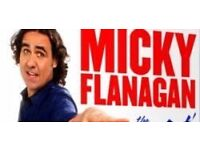 3- Micky Flannigan -- great seats - Friday 26/5 Glasgow