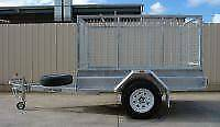 KESSNER TRAILERS 7X4 GALVANISED HEAVY DUTY BOX TRAILER WITH CAGE