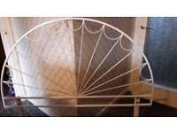 HEADBOARD 4ft 6in Double bed white metal