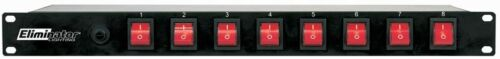 Eliminator E-107 Rack Mount Power Center 8 Switch ON/OFF A/C Power Center Strip