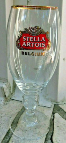 Stella Artois Belgium Beer Glass Chalice Over 600 yrs of Brewing Expertise 40cl
