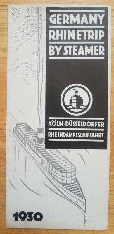 KOLN DUSSELDORFER - 1930 BROCHURE with INTERIOR PHOTOS
