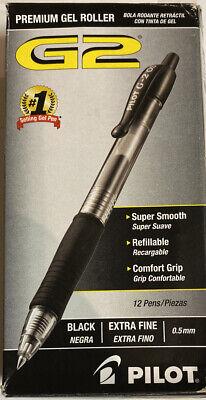 12 Pk Pilot G2 Pil31002 0.5mm Premium Retractable Gel Pen - Black