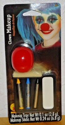 Rubie's Clown Face Makeup Kit with Nose for Costume, Party, Impersonator, Stage (Makeup For Nose)