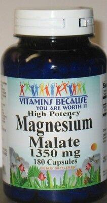 Magnesium Malate High Potency 1350mg 180 Capsules