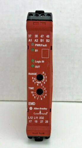 Allen Bradley 440R-EM4R2D GSR EMD Guard Master 24 VDC Ser. A Safety Relay