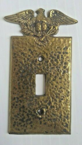 Solid Brass Single Switch SwitchPlate Cover Eagle Vintage EMIG 204