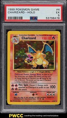 1999 Pokemon Base Set Holo Charizard #4 PSA 5 EX
