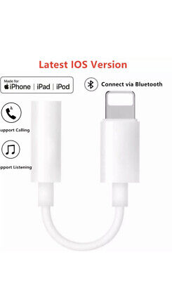 Lightening To 3.5mm Jack Audio AUX Adapter Cable For iPhone 6 7 8 X XS Bluetooth