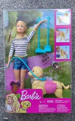 BARBIE Walk & Potty Pup Doll Puppy and Accessories Mattel Dog