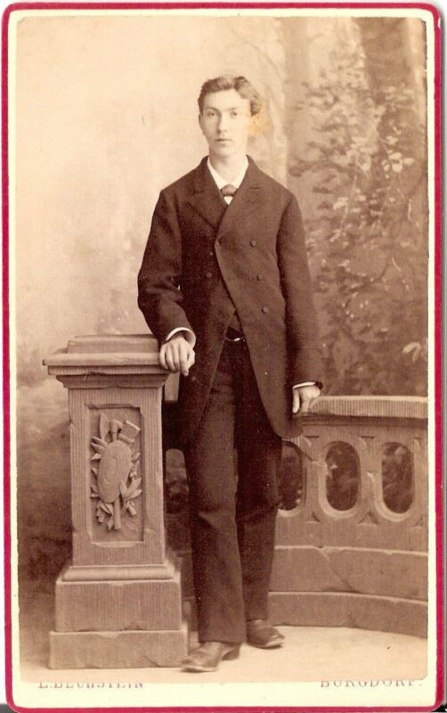 L. Bechstein CDV photo Feiner Herr - Burgdorf 1870er