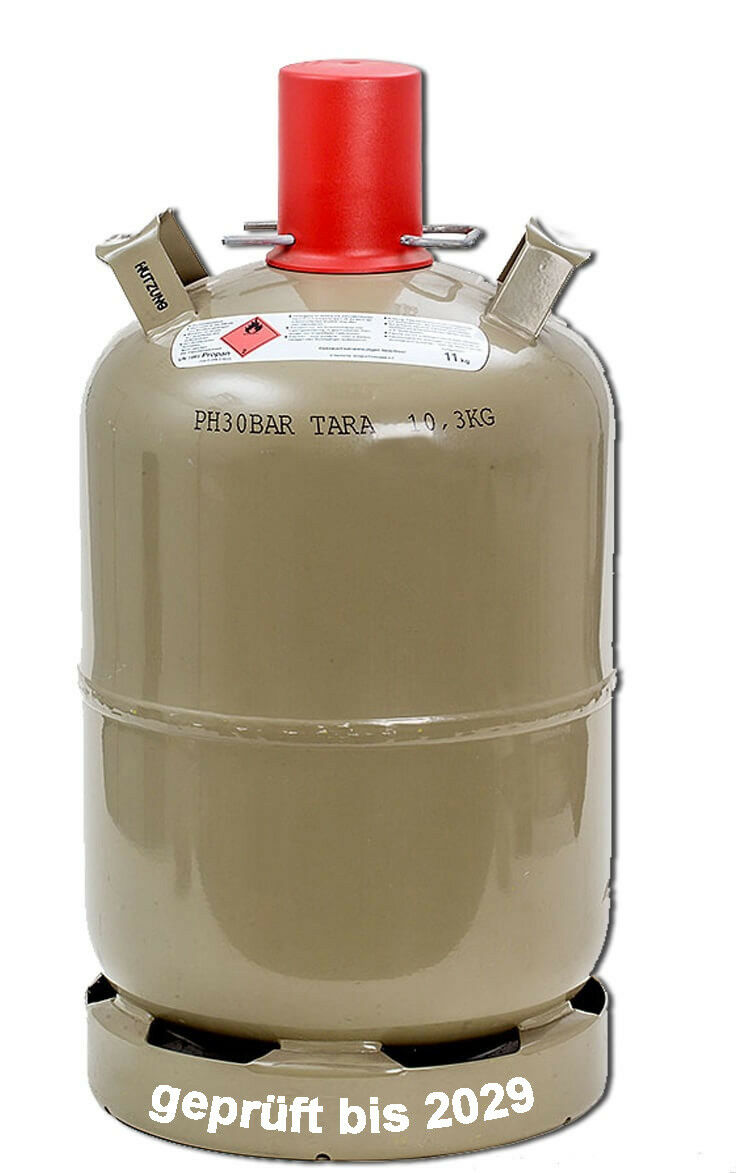 11 kg Gas-Flasche Propan-Gas Grill Gas-Kocher Heizer Camping Laube