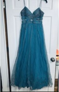 Silver Sequin Prom Dress!