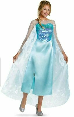 Disguise Womens Disney Frozen Elsa Deluxe Costume Light Blue](Elsa Costume Womens)