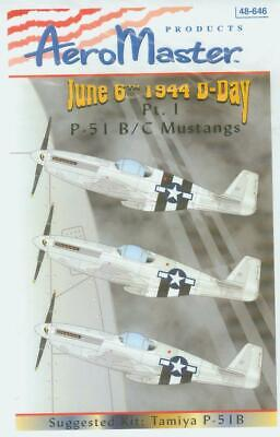 1/48 P-51 B/C Mustangs 6 June 1944 D-Day Pt.1 decal AeroMaster 48-646