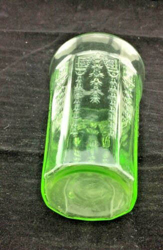 "HOCKING GLASS CO. PRINCESS GREEN 9-OUNCE 4"" TALL WATER BEVERAGE TUMBLER-PERFECT!"
