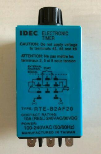 IDEC - Electric TIMER - RTE-B2AF20 - 100-240VAC - NEW