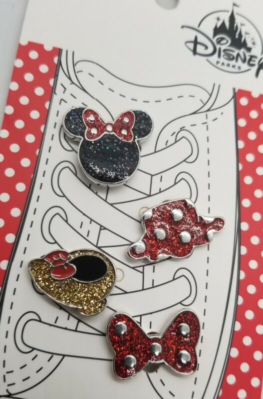 Disney Parks - Minnie Mouse PARTS Shoelace Charms 4 Piece NEW with TAGS