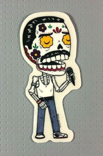"Day of the Dead Freddy Mercury Sticker 4"" Jose Pulido Music"