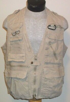 Humvee By Campco Safari Photo Vest Large Khaki Utterly Stylish 9226e