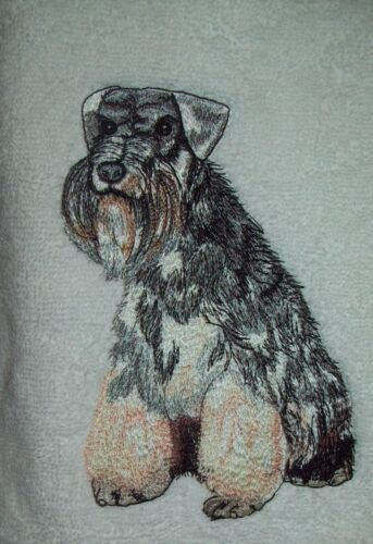 SCHNAUZER Dog Breed Personalized SWEATSHIRT EMBROIDERED