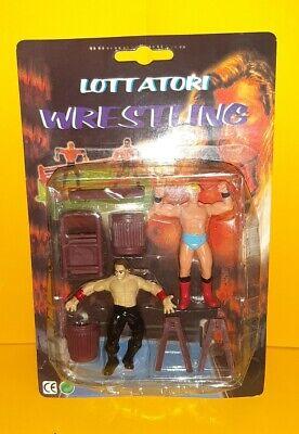 Lotto Lottatori Wrestling giocattoli action figure personaggi lotta tv smackdown