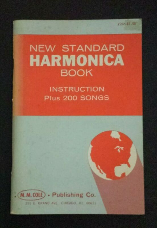 NEW STANDARD HARMONICA Music Book -  INSTRUCTION +200 SONGS PAPERBACK 1954