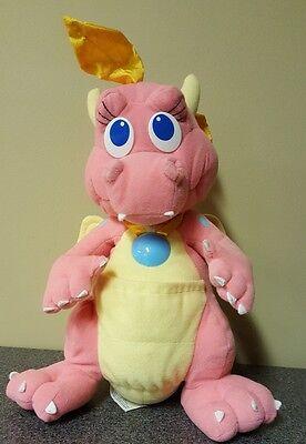 """Dragon Tales Cassie Talking Light Up 11"""" Plush Doll Toy 1999 - Playskool PBS"""