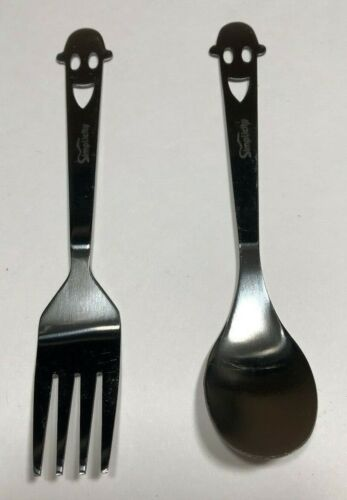Kids Happy Face Spoon and Fork Set