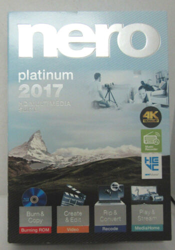 Nero 2017 Platinum HD Multimedia Suite for Windows