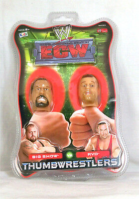 WWE / Thumbwrestlers / Big Show / Rob Van Damme / 1/6th scale heads / New Carded