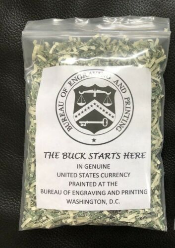 100% Real Shredded Cash Money Currency $200.00+ Ship out same day