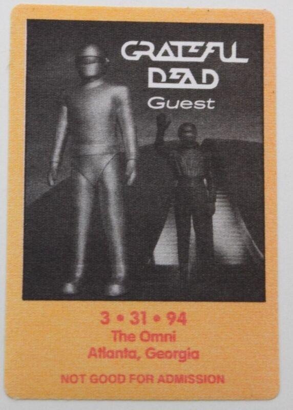 Grateful Dead Backstage Pass 3-31-94 The Omni Atlanta Georgia