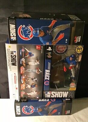 Imports Dragon McFarlane MLB THE SHOW JAVIER BAEZ Chic Cubs Action Fig PS4 Code