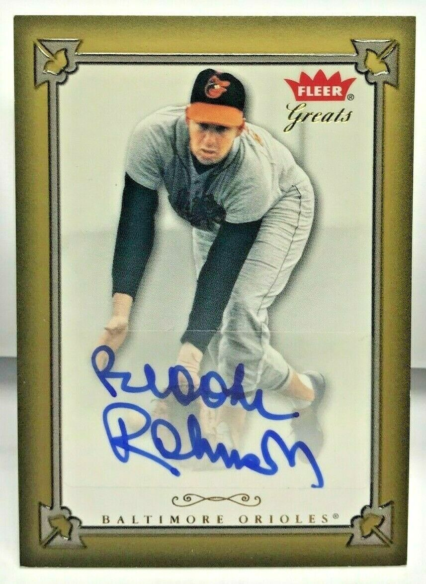 Brooks Robinson 2004 Fleer Greats Of The Game Autograph Auto - BALTIMORE ORIOLES - $49.99