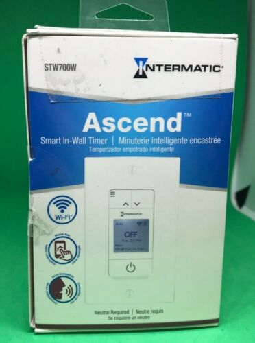 Intermatic STW700W Programmable Wi-Fi Timer Electronic In-Wall Switch