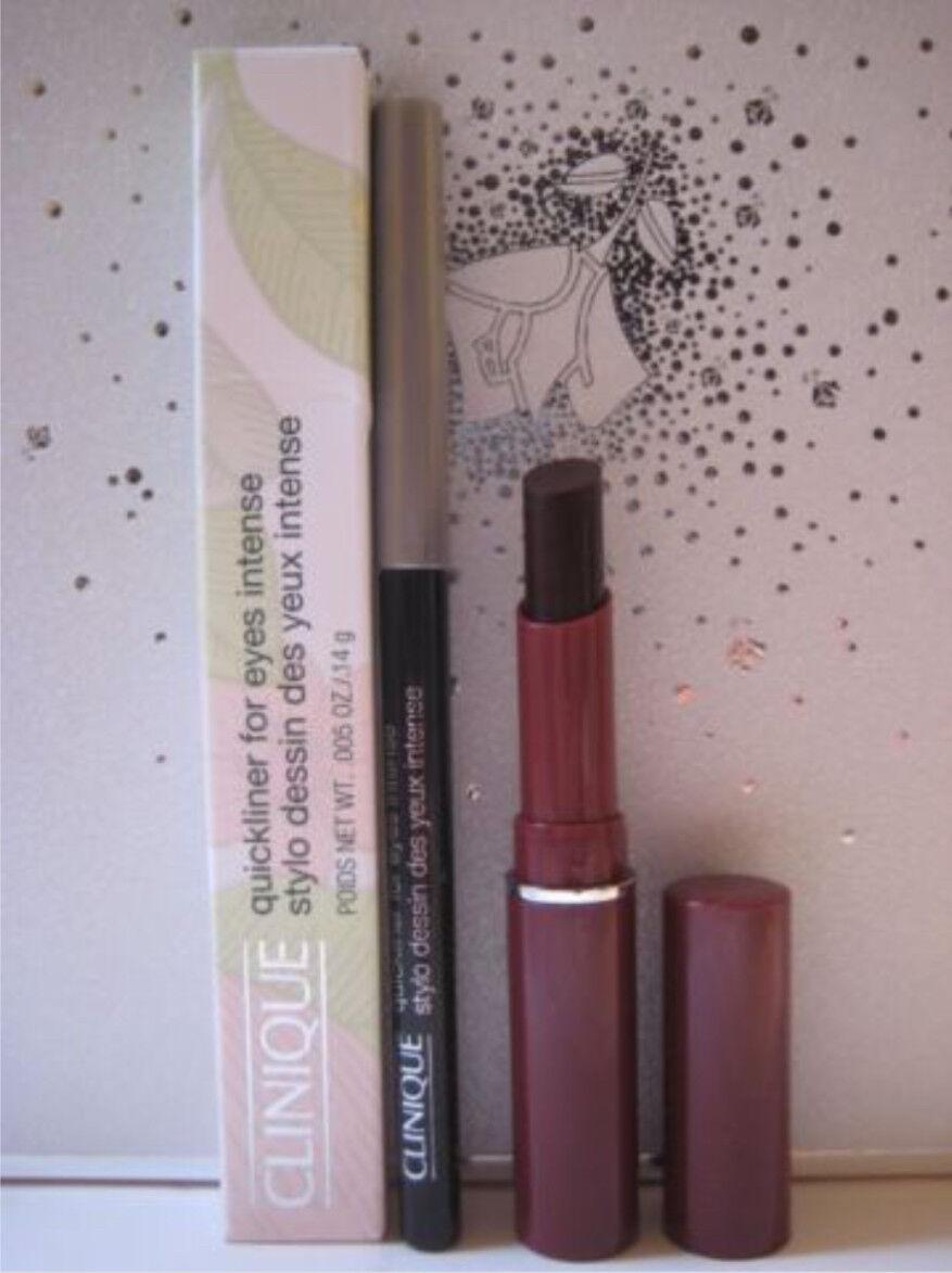 Lot CLINIQUE BLACK HONEY Almost Lipstick + QUICKLINER FOR EY