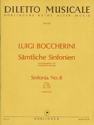 Luigi Boccherini: Sinfonia No. 8. A-Dur (G 508) Op. 12/6. Partitur - Noten