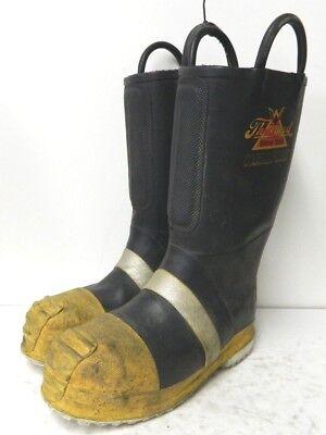 Thorogood Structural Hazmat Steel Toe Firefighter Fire Boots Size 8 Medium 3