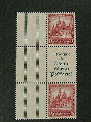"""GERMANY,GERMANIA REICH Zusammendruck 1931 """"Beneficenza """" 15+A1.+15 MNH** Mi.S99"""