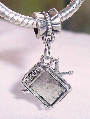 Nostalgia Retro Television Tv Dangle Bead For Silver European Charm Bracelets