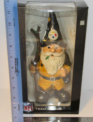 Pittsburgh Steelers NFL Gnome w christmas santa Hat 10.5