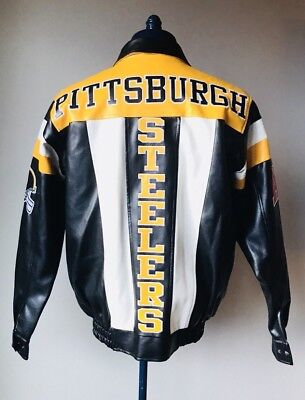 Pittsburg Steelers NFL G-III Faux Leather Winter Jacket Mens Size Small EUC