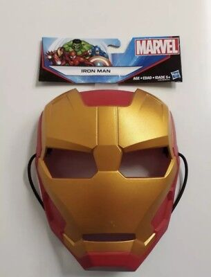 Marvel Iron Man Kids Mask Ages 5+ by Hasbro with Durable Strap Holiday Gift (Kids Iron Man Mask)