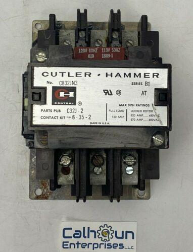 Cutler Hammer C832JN3 Contactor 120 Amp 600 V 3 Pole 120 V Coil Series B1