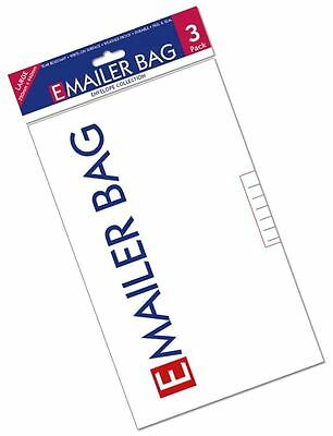 3 E Mailer White Mail Postal Bags Large High Quality Mailing Polybag 320 X 440mm