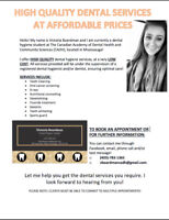 Dental cleanings at AFFORDABLE PRICES!