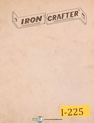 Iron Crafter Hts 36 Plate Shear Operations And Replacement Parts Manual 1982
