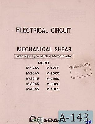 Amada M Series Shear Electric Circuits Drawings Parts Program Functions Manual