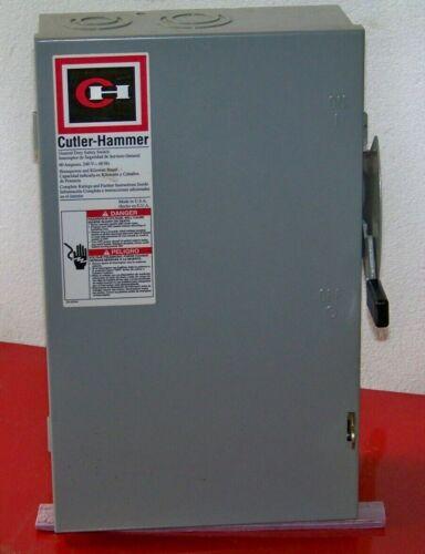 DG322UGB Cutler Hammer 60 amp 240 volt 3 pole disconnect non-fusible